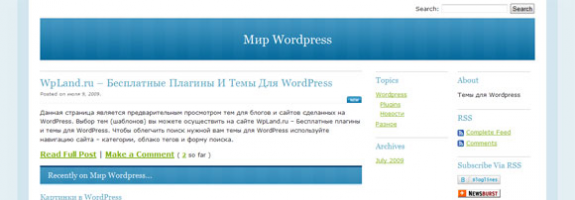 Один пост WordPress