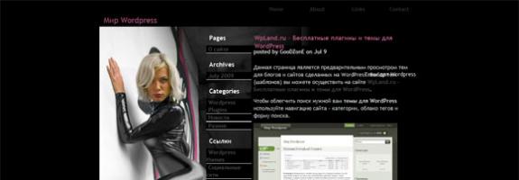 Adult шаблон для WordPress