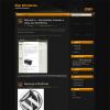Черный шаблон для WordPress