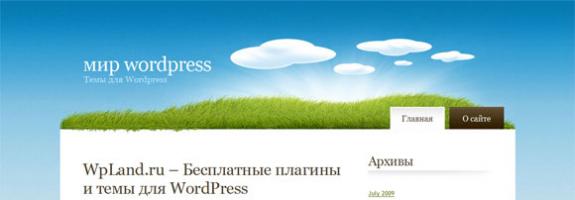 Нарисованое поле WordPress