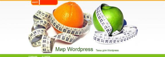 Шаблон WordPress: Похудение