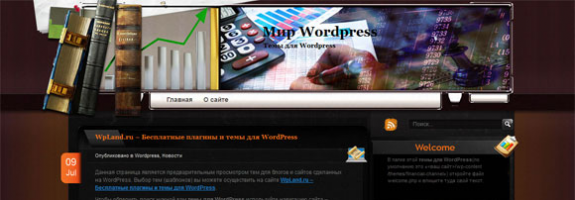 Бизнес тема wordpress: Financial Channel