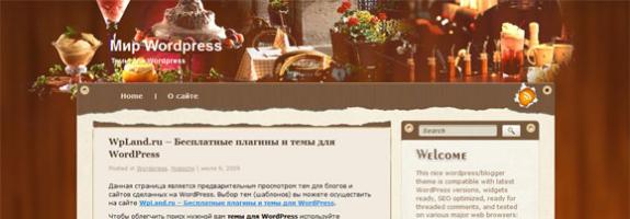 Кулинарная тема wordpress: Terrific Taste