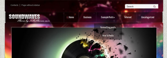 SoundWaves – музыкальная премиум тема для wordpress