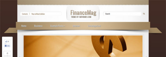 Бизнес премиум тема для wordpress: FinanceMag