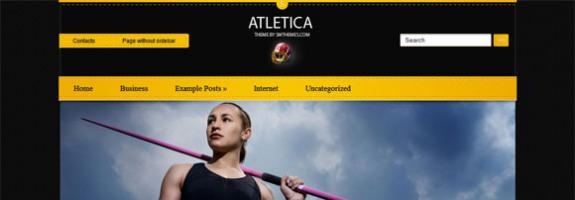 Спортивная премиум тема wordpress: Atletica
