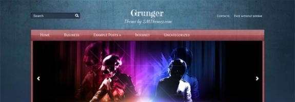 Креативная тема для wordpress от SMThemes: Grunger