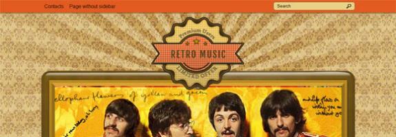 Музыкальный шаблон wordpress: RetroMusic