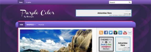 Новостной шаблон wordpress: PurpleColor