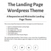 Белый шаблон wordpress: The Landing Page