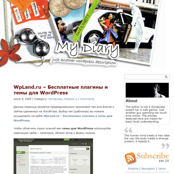 Дневник wordpress
