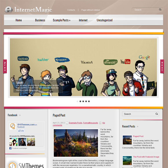 Новостной шаблон для wordpress: InternetMagic
