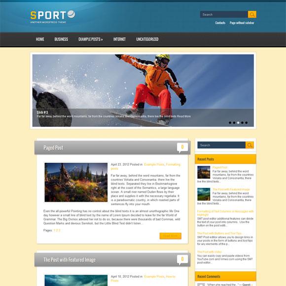 Спортивный шаблон для wordpress: Sport