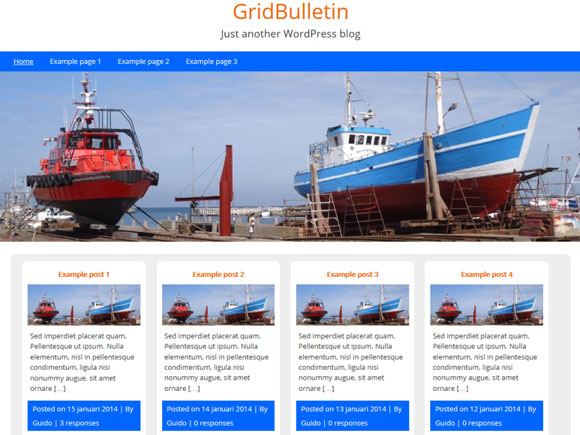Светлый шаблон wordpress: GridBulletin