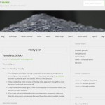 Серый шаблон для wordpress: Bicubic