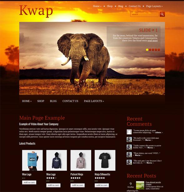 Туристический шаблон для wordpress: Kwap