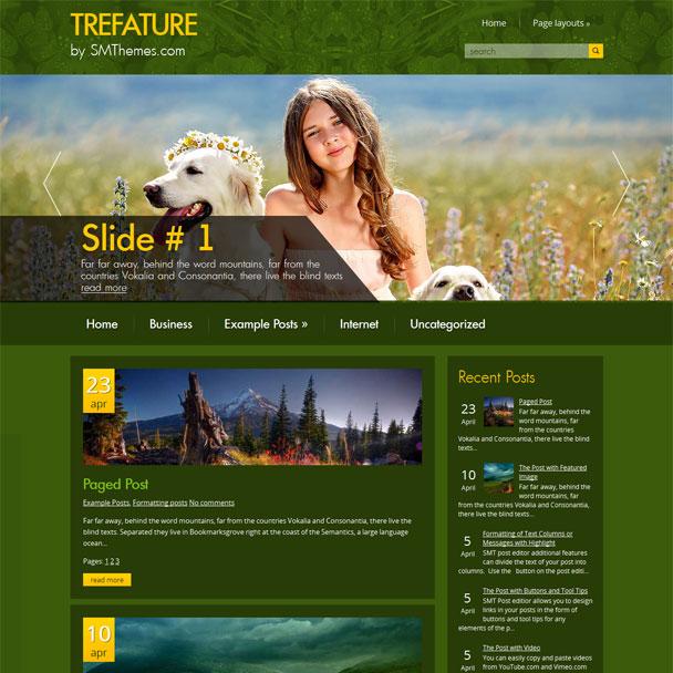 Шаблон wordpress о животных: Trefature